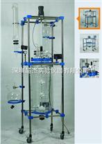 滨州电加热夹层玻璃反应釜\淄博100L双层玻璃反应釜价格-济南超杰仪器公司