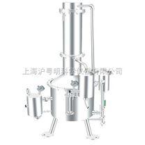 塔式蒸汽重蒸餾水器 上安申安SHZ32-50不銹鋼蒸餾水器