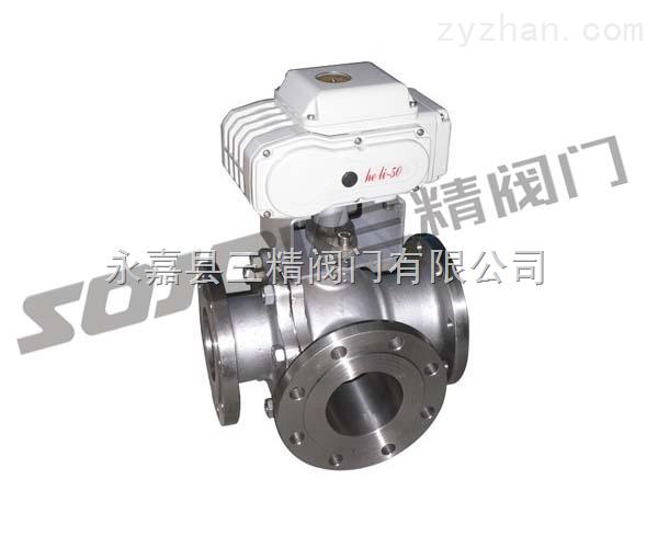球阀图片系列:Q944F/Q945F电动三通球阀