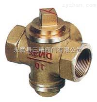 旋塞阀图片系列:X16W-10T三通内螺纹全铜旋塞阀