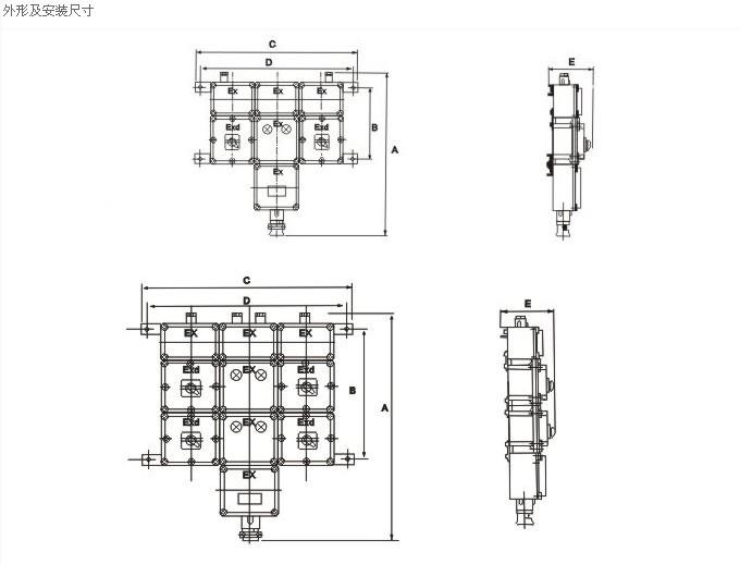 规格 内装元件 结构类型 备注 支路电流小于63a 小型断路器交流接触器
